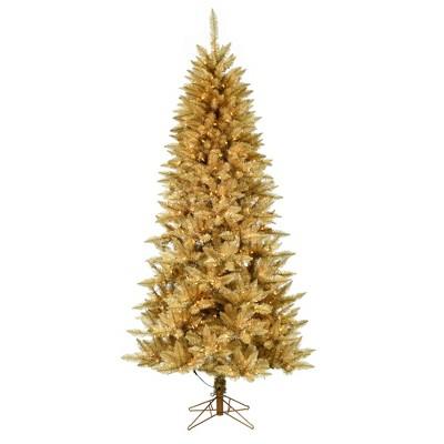 Vickerman Gold Fir Artificial Christmas Tree