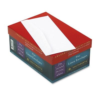 Southworth 25% Cotton #10 Envelope White 24 lbs. Linen 250/Box FSC J55410