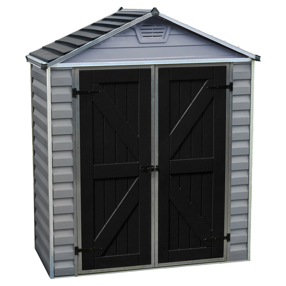 Image of 6'X3' Skylight Shed - Gray - Palram