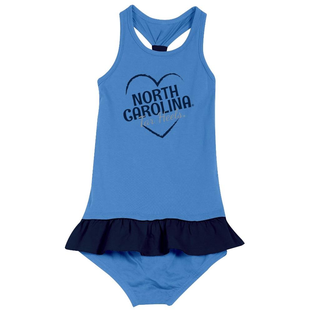 North Carolina Tar Heels After Her Heart Toddler Dress 2T, Toddler Girl's, Multicolored