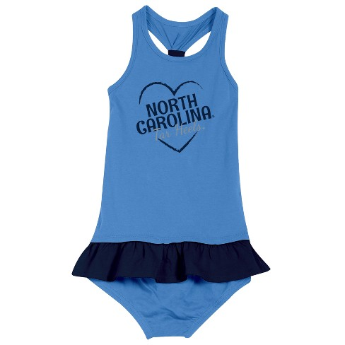 North Carolina Tar Heels After Her Heart Newborn/Infant Dress 12 M - image 1 of 2