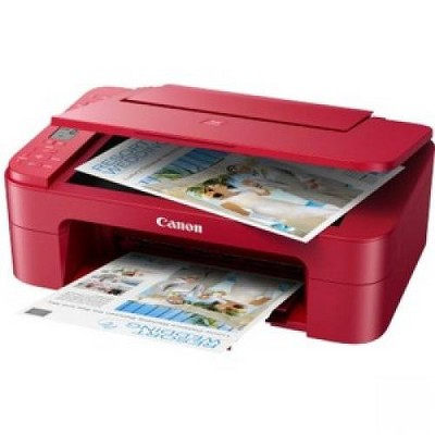 Canon PIXMA TS TS3320 Red Inkjet Multifunction Printer - Color - Copier/Printer/Scanner - 4800 x 1200 dpi Print - 600 dpi Optical Scan