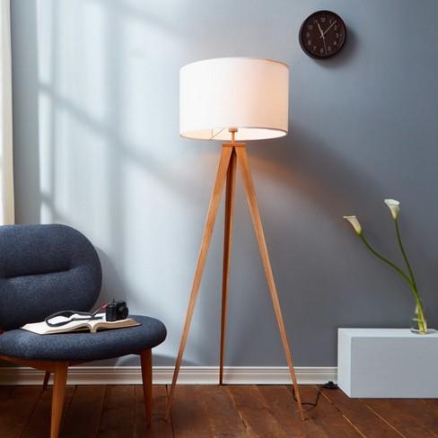 Versanora Romanza Tripod Floor Lamp With White Shade Only Target