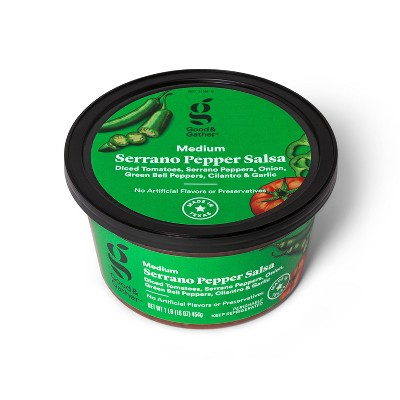 Serrano Pepper Salsa - Medium Heat - 16oz - Good & Gather™