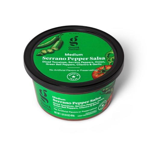 Serrano Pepper Salsa - Medium Heat - 16oz - Good & Gather™ - image 1 of 3