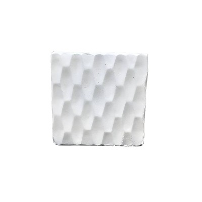 "16"" Kante Lightweight Concrete Retro Square Outdoor Planter White - Rosemead Home & Garden, Inc."