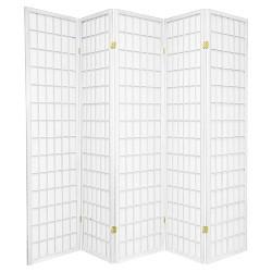 6 ft. Tall Window Pane Shoji Screen - Oriental Furniture