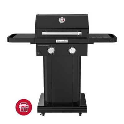 KitchenAid 2-Burner Gas Grill with Grill Cover 720-0891DACO - Black