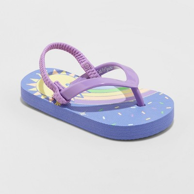 Toddler Girls' Keira Rainbow Flip Flop Sandals - Cat & Jack™ Purple M