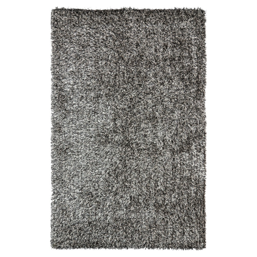 Platinum/Ivory (White/Ivory) Solid Shag/Flokati Tufted Area Rug - (4'X6') - Safavieh