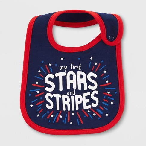 Baby 'Stars and Stripes' Bib - Just One You® made by carter's Navy - image 1 of 1