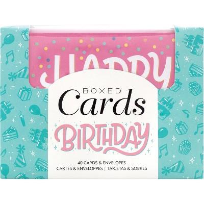 "American Crafts A2 Cards W/Envelopes 4""X6"" 40/Box-Blank - Birthday"