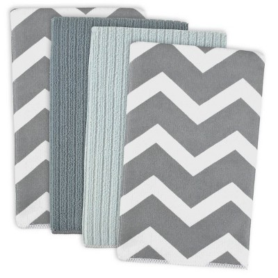 4pk Polyester Chevron Microfiber Dishtowels - Design Imports
