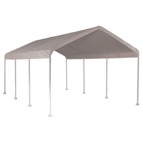 Max Ap 10' X 20' Heavy Duty 4 Rib Canopy with White Polythene Cover - Shelterlogic - image 1 of 7