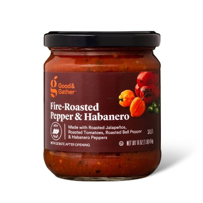 Hot Fire Roasted Pepper & Habanero Salsa 16oz - Good & Gather™