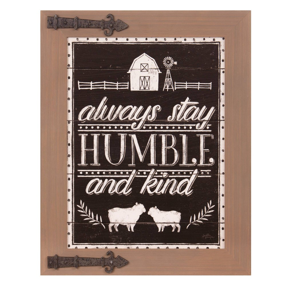"""Image of """"16"""""""" x 20"""""""" Always Stay Humble and Kind Wood Wall Sign Wood Panel Brown/Bronze - Patton Wall Decor, Black"""""""