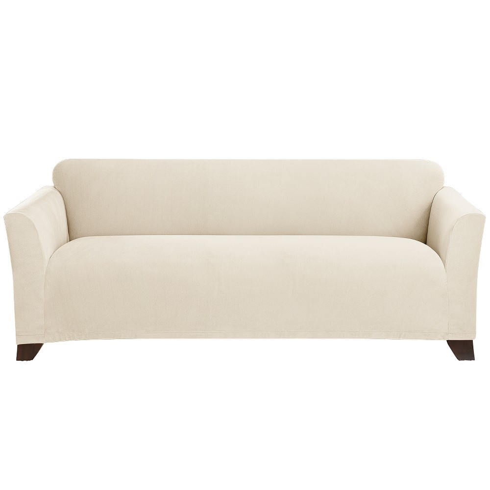 Stretch Morgan Sofa Slipcover Ivory - Sure Fit