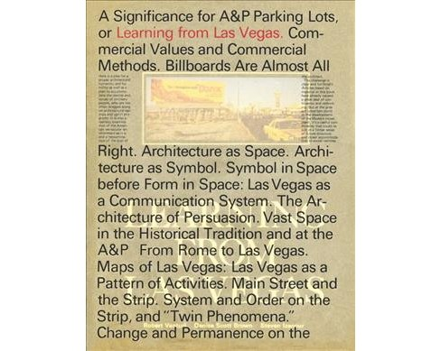 Learning from Las Vegas -  Facsimile by Robert Venturi & Denise Scott Brown & Steven Izenour (Hardcover) - image 1 of 1