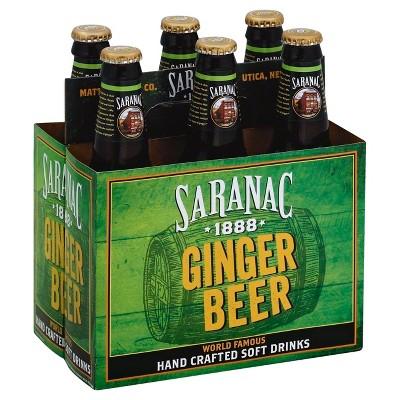 Saranac Ginger Beer - 6pk/12 fl oz Glass Bottles