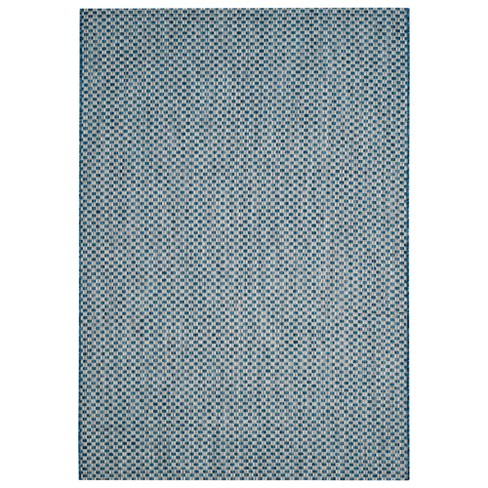 "Tabatha 6'7"" x 9'6"" Indoor/Outdoor Rug - Black/Light Gray - Safavieh - image 1 of 4"