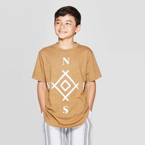 Boys' Short Sleeve Graphic T-Shirt - art class™ Brown - image 1 of 3