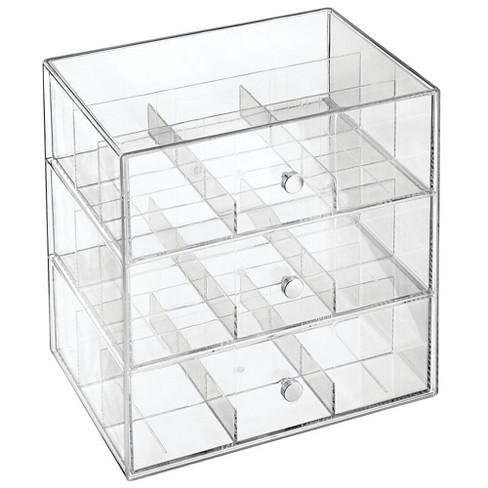 Mdesign Plastic Kitchen Storage Tea Organizer 3 Drawers 27 Sections Target