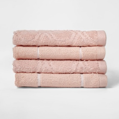 Woven Pattern Washcloth Peach - Project 62™