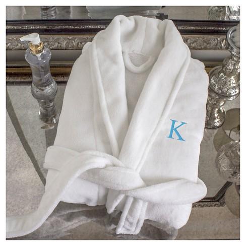 Monogram Bridesmaid Plush Robe - H   Target d5c153d7c