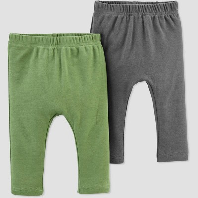 Baby Boys' 2pk Leggings - little planet organic by carter's Green 6M