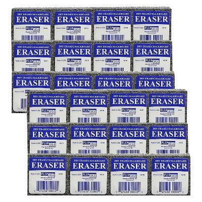 Flipside Student Eraser Assorted Colors 12 Per Pack 2 Packs FLP30009-2