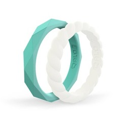 QALO Women's Stackable Silicone Ring G