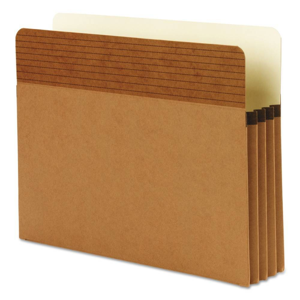 Image of Smead Easy Grip Pocket File Folders, Redrope, Letter, 3 1/2 Inch Accordion Expansion, 25/Box, Brown