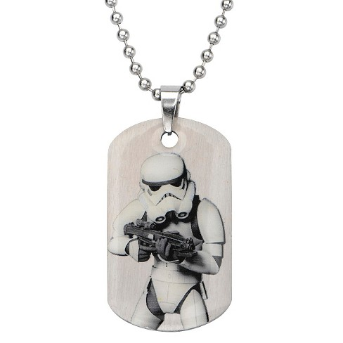 "Men's Star Wars Stormtrooper Stainless Steel Dog Tag (18"") - image 1 of 1"