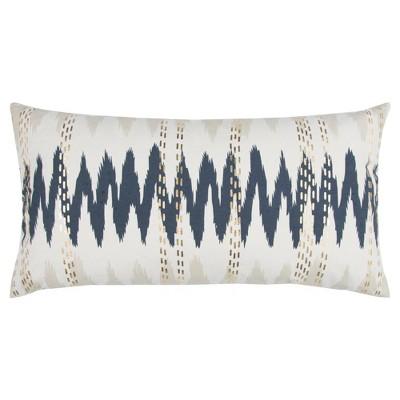 Indigo Cotton Throw Pillow (14 x26 )- Rizzy Home
