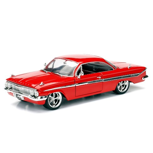 Jada Toys Fast & Furious 1961 Chevy Impala Die-Cast Vehicle 1:24 Scale Glossy Red - image 1 of 4