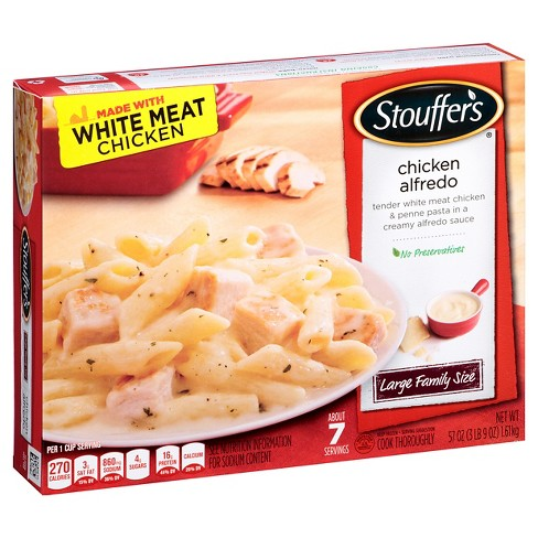 Stouffer's Family Size Frozen Chicken Alfredo Pasta Meal - 57oz - image 1 of 5