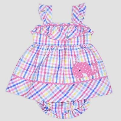 Baby Girls' Gingham Whale Seersucker Dress Nate & Annee™ Multi 12M