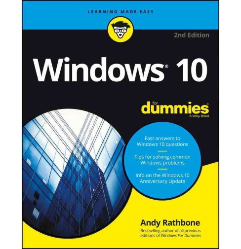 Windows 10 for Dummies (Paperback) (Andy Rathbone) - image 1 of 1