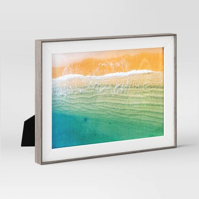 """5"""" x 7"""" Slanted Step Picture Frame Gray/White - Room Essentials™"""