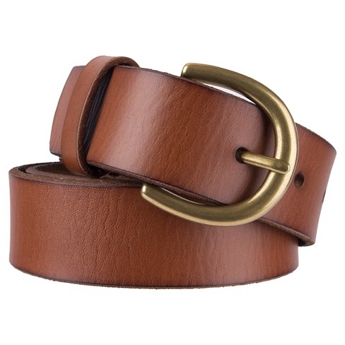 INC Women/'s Skinny 2 For 1 Brown Skinny Belts Solid Braided Cognac SIZE M New