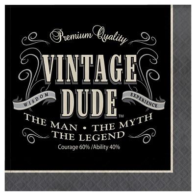 16ct Vintage Dude Napkins