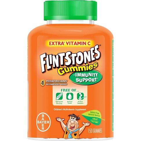 Flintstones Children's Multivitamin Plus Immunity Support Gummies - Cherry, Raspberry & Orange - 150ct - image 1 of 4