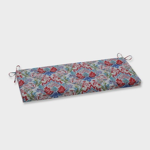 Flying Colors Confetti Outdoor Bench Cushion Pink - Pillow Perfect - image 1 of 1