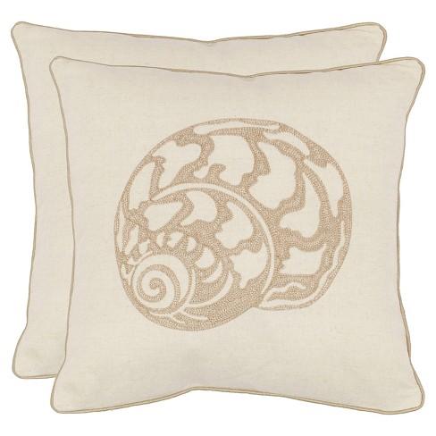 """Off White Set Throw Pillow (18""""x18"""") - Safavieh - image 1 of 2"""