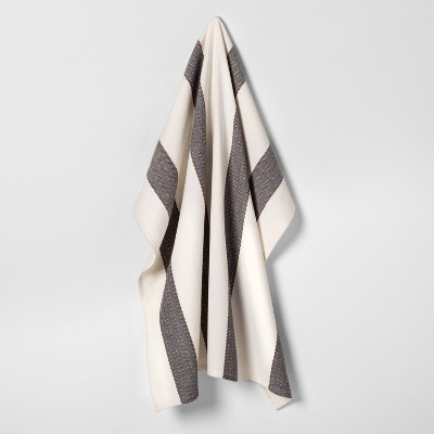 Flour Sack Kitchen Towel Stripe Rust / Black - Hearth & Hand™ with Magnolia