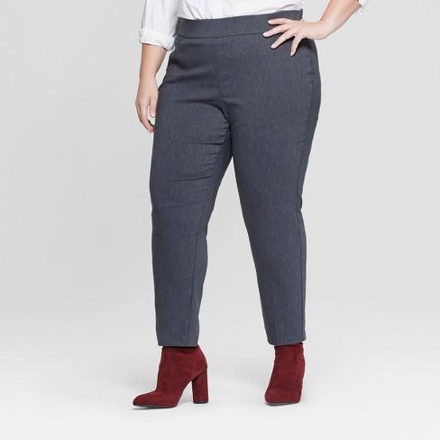 c31f63fee88 Women s Plus Size Pull-On Skinny Ankle Pants - Ava   Viv™ Heather ...