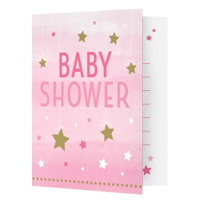 8ct One Little Star Girl Baby Shower Invitations