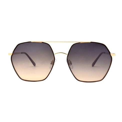 Women's Two Tone Smoke Sunglasses - A New Day™ Bright Gold - image 1 of 2