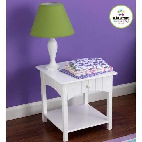 Kidkraft Nantucket Toddler Wood Side Table White 86624