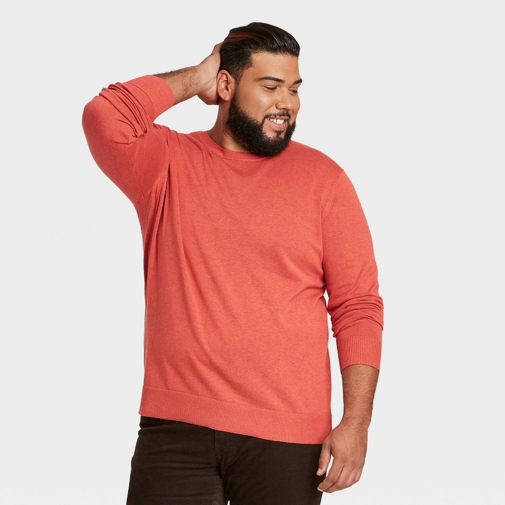 Men 39 S Big 38 Tall Standard Fit Crew Neck Pullover Sweater Goodfellow 38 Co 8482 Light Red 3xb